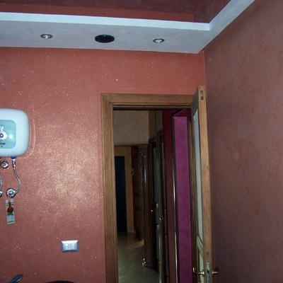 pareti in cartongesso decorate