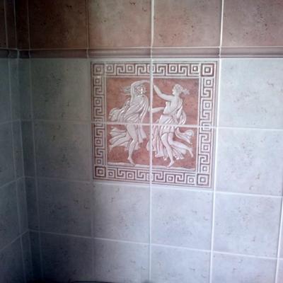 Particolare dei rivestimenti, Michelangelo, Polis Ceramiche