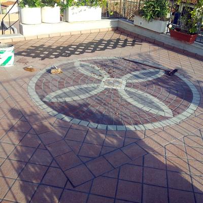 Pavimentazione terrazzo a mosaico