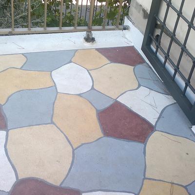 pavimento realizzato in suberite