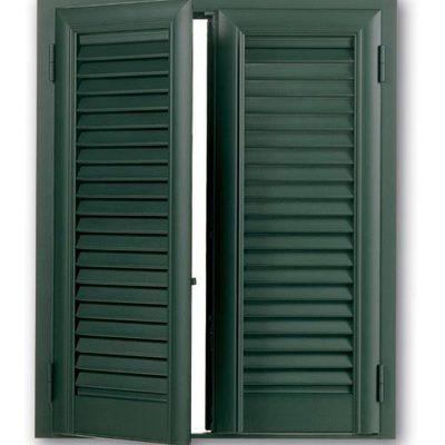 Persiana in alluminio colore verde raffaello
