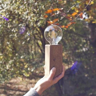 Applique da parete - Lampada in legno > Pirn