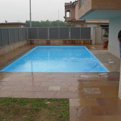 piscina a skimmer sfioratore
