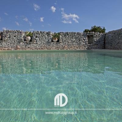 piscina specchio_muretto a secco