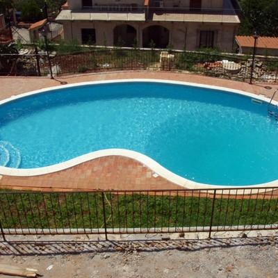 piscine a skimmer a fagiolo