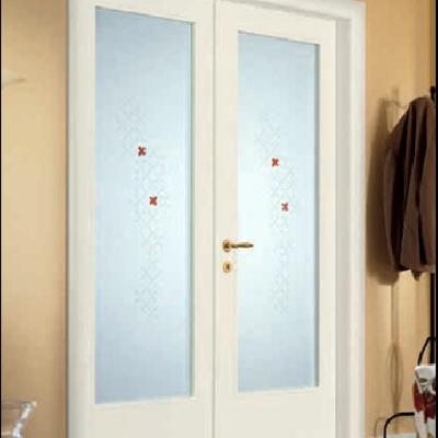 porta 2 battenti con vetro