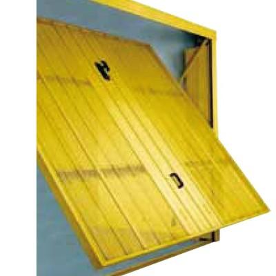 Porta basculante microforata