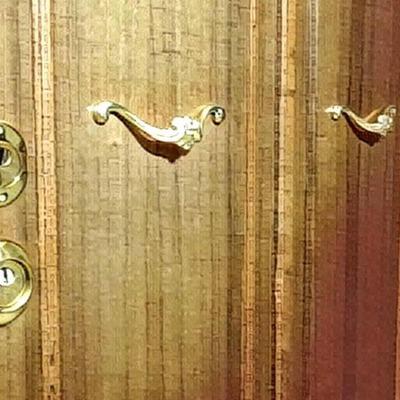 Foto artistica dettaglio maniglioni esterni e serrature
