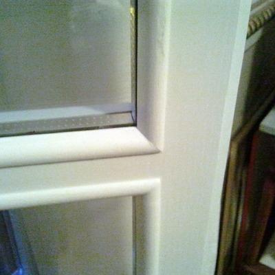 porta finestra con vetro camera e rigolino