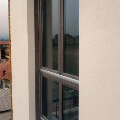 Porta finestra in legno (vista dall'esterno)