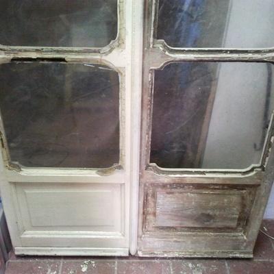 porta finestra prima e sverniciata