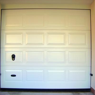 porta sezionale con impronta a cassettoni