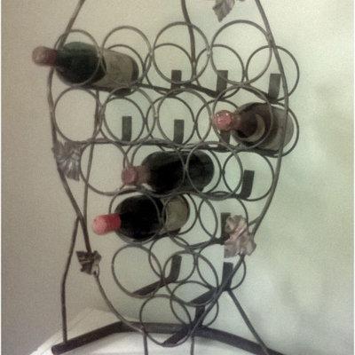 Portabottiglie a forma di grappolo d'uva