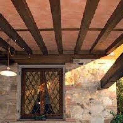 Porticato in legno e solaio compound Restauro con Tavella