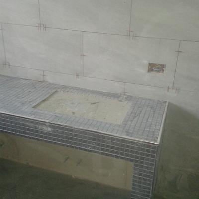 Posa bagno in mosaico