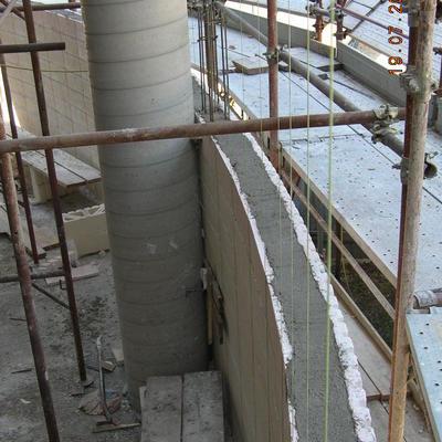Dettaglio di pareti curve