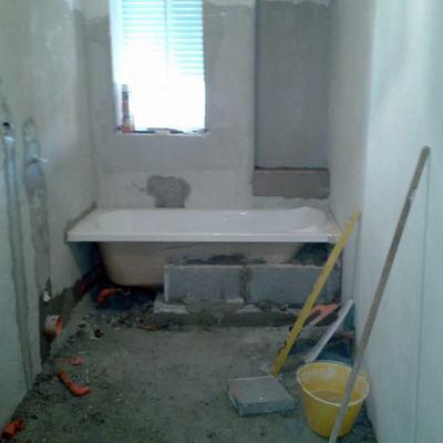 Posizionamento vasca da bagno