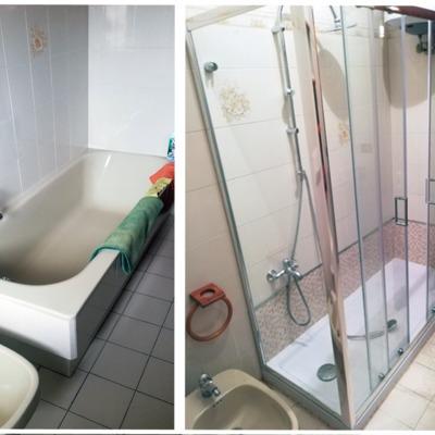 Trasformazione vasca in doccia - lavoro 1