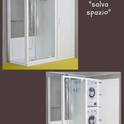 SOLUZIONE  SALVA SPAZIO Trasformazione da vasca in doccia iDeaDoccia®
