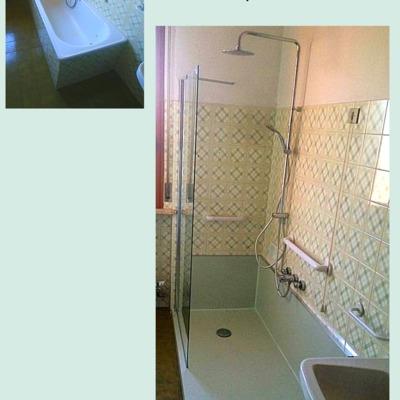 SOLUZIONE  WALK-IN Trasformazione da vasca in doccia iDeaDoccia®