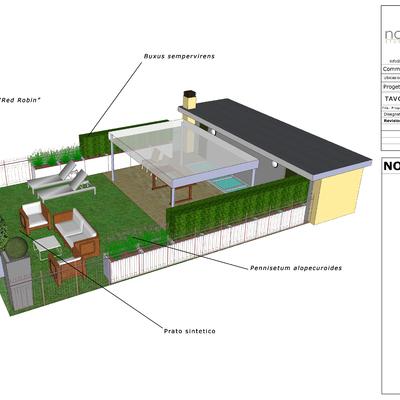 Progettazione 3D per terrazzo panoramico