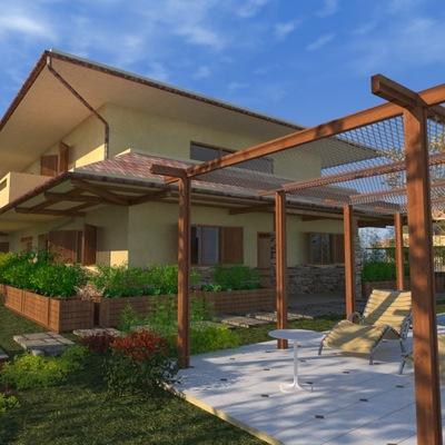 Progettazione Architettonica villa Bifamiliare