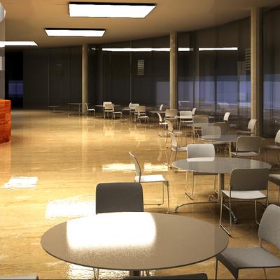 Progettazione sala caffetteria ristorante
