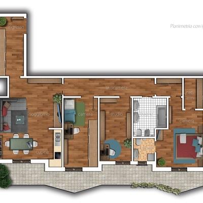 progetto di ristrutturazione e arredo appartamento