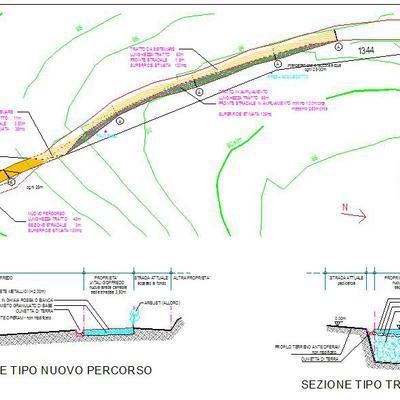 progetto di strada poderale