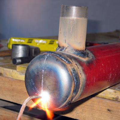 Realizzazione collettori in acciaio nero 1