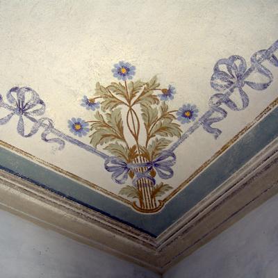 restauro di volta dipinta