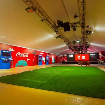 Coca Cola trophy village