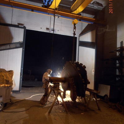 Rigenerazione tamburi per scavo gallerie sotterranee