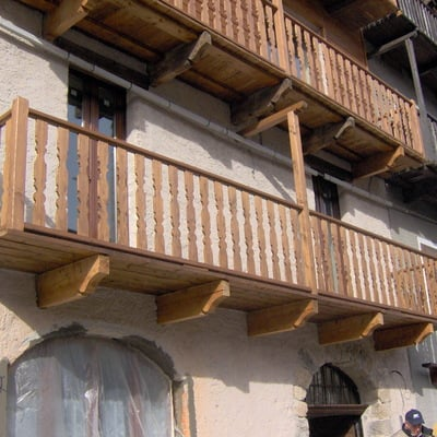 Ringhiere in legno