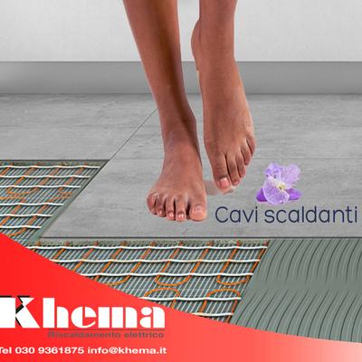 Riscaldamento a pavimento con cavi scaldanti