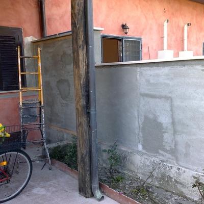 ristrutturazione e rinforzo muro esterno