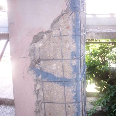 ristrutturazione esterna di pilastro portante