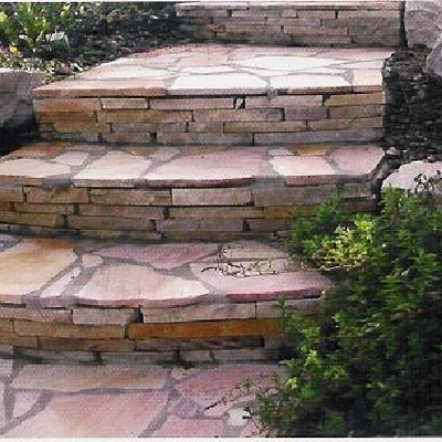 scala in pietra naturale