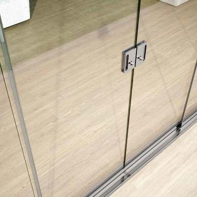 dettaglio serratura su vetrata scorrevole