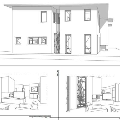Progetto preliminare per villa abbinata