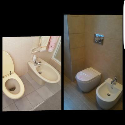 Ristrutturazione completa bagno con sanitari filomuro
