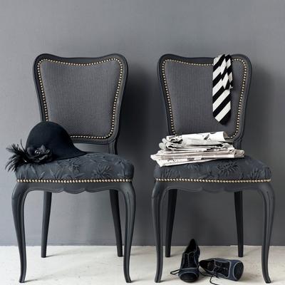 sedie con stoffa cigniglia