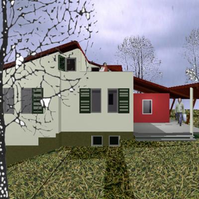 Serravalle scrivia ristrutturazione di villetta bifamigliare -Laterale
