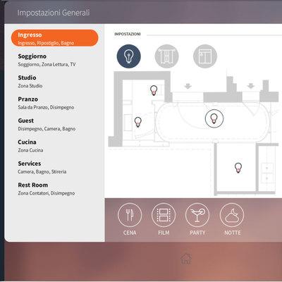 Esempio di interfaccia grafica per iPad