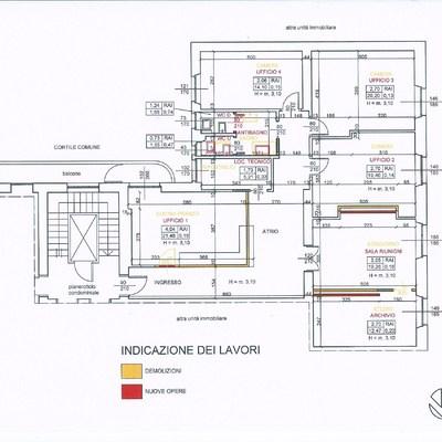 Sistemazione di appartamento/ufficio in Novara.
