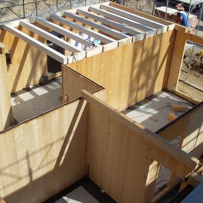 Costruzione casa in legno
