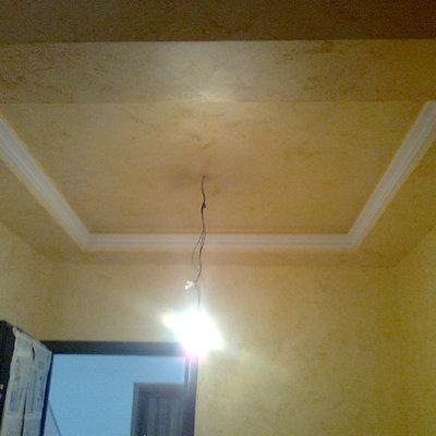 soffitto rientrato in un ingresso.