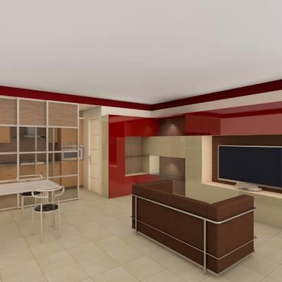 Progetto mobile soggiorno/cucina