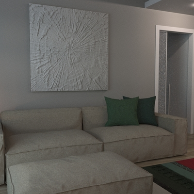 soggiorno in un appartamento di città