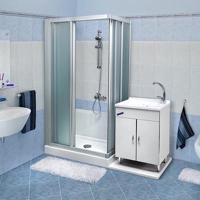 Trasformazione vasca in doccia Standard con vano lavabo
